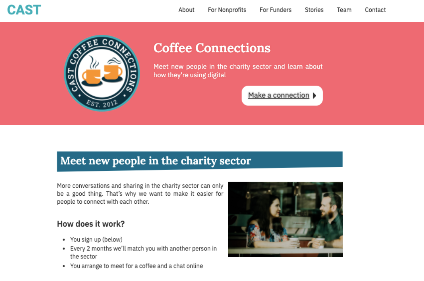 The Coffee Connections website