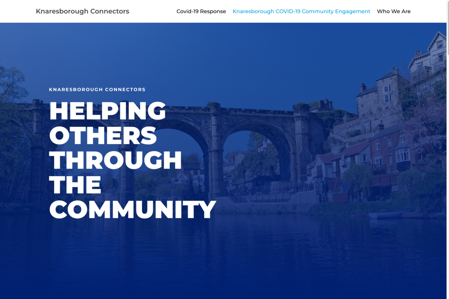 An image showing the Knaresborough Connectors website